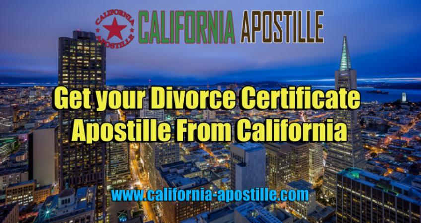 Apostille Divorce Certificate California