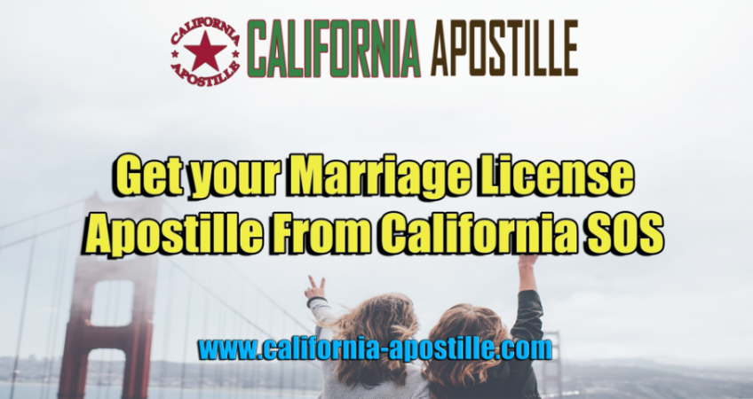 Apostille Marriage License California