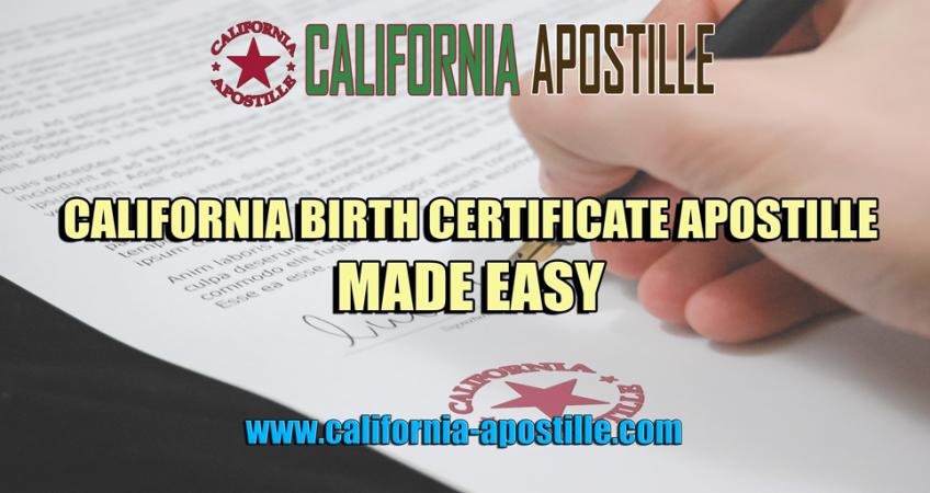 california birth certificate apostille