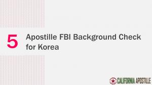 Apostille FBI Background Check