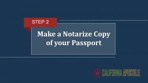 Make a notarize copy of your passport