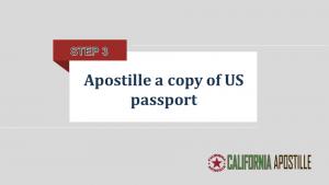 Apostille a copy of US passport