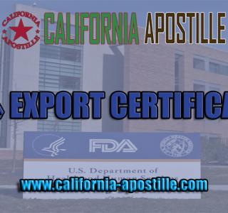 FDA Export Certificates
